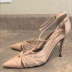 SJP Leather T-Strap Heels